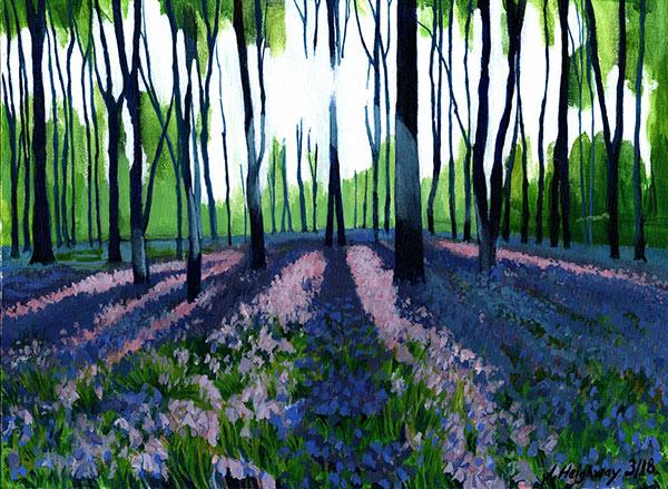 BlueBell Woods painting artwork