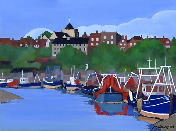Boats at Rye landscape art