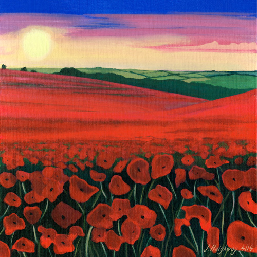 Poppy Field Painting picture