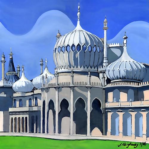 Royal Pavilion Brighton landscape art