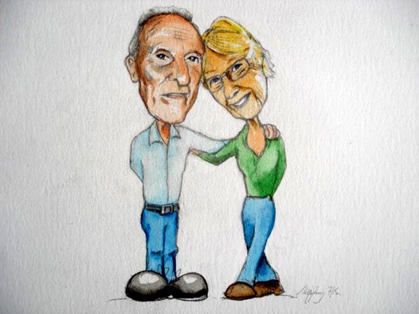 dans parents Caricature art