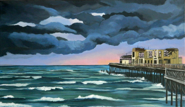 hastings pier painting picture